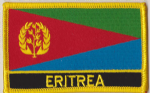 Eritrea Embroidered Flag Patch, style 09.